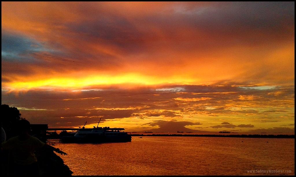sunset - manila bay