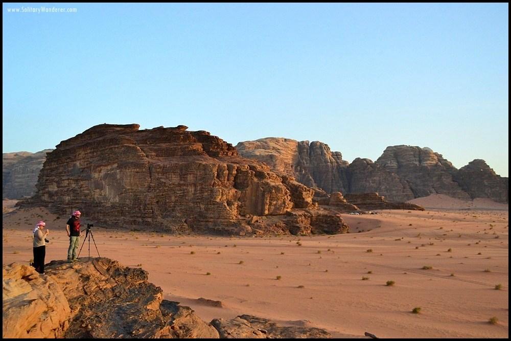 sunset wadi rum jordan