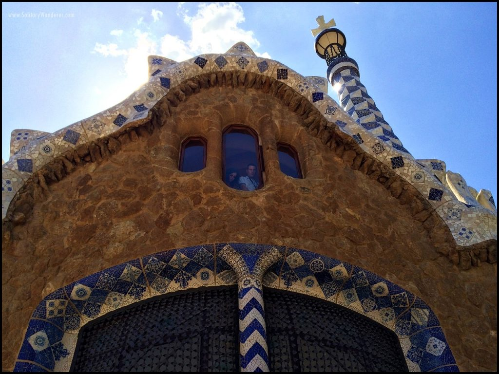 park guell entrance houses