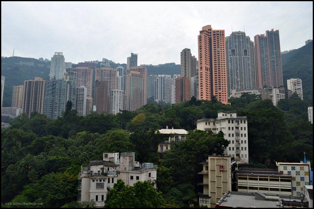 mini central hotel balcony HK