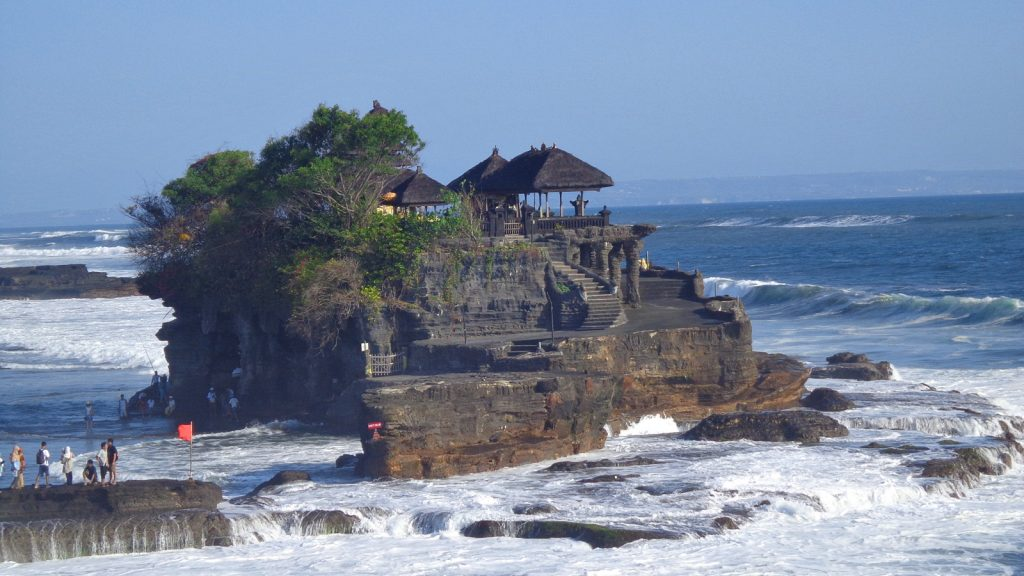 Tanah Lot temple in Bali Indonesia - solo travel tips bali
