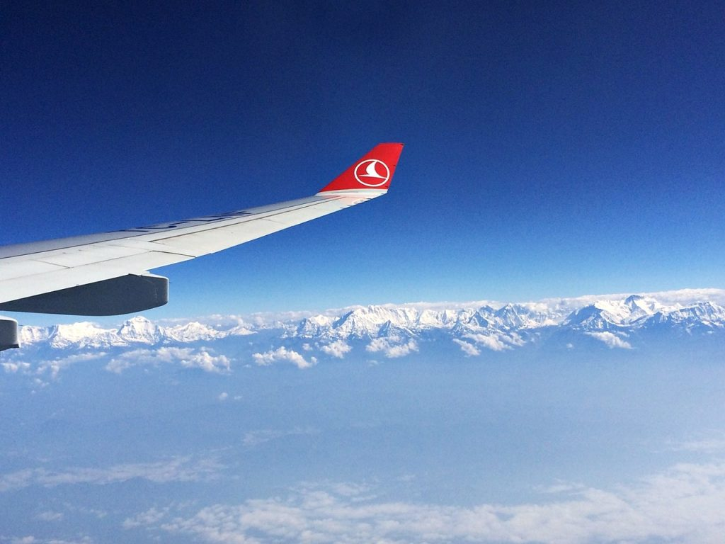 himalayas nepal airplane traveler's high