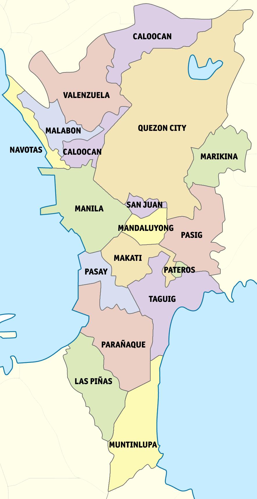 Metro Manila map