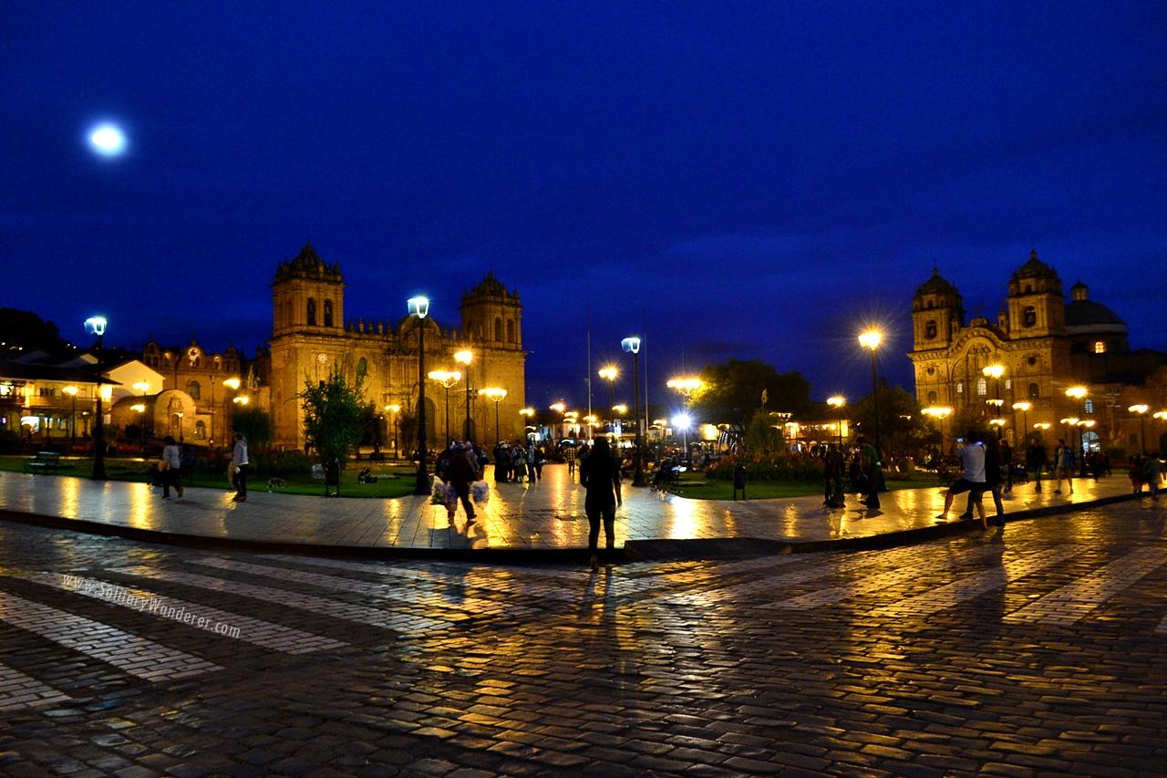 plaza de armas cusco night