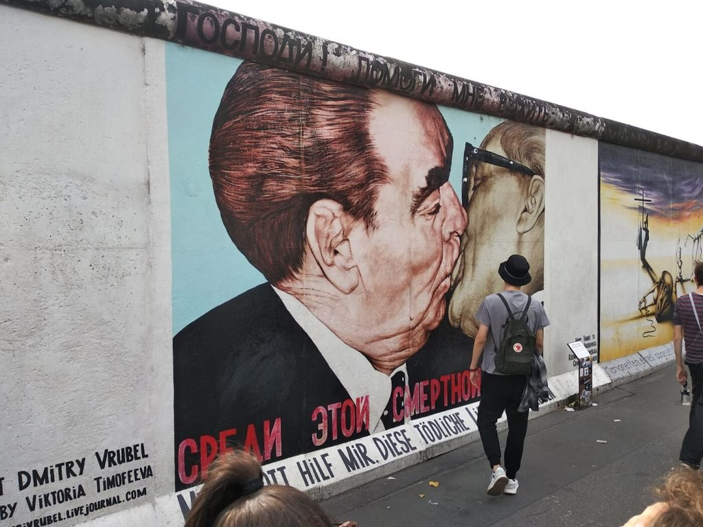 The Kiss at Berlin's East Side Gallery
