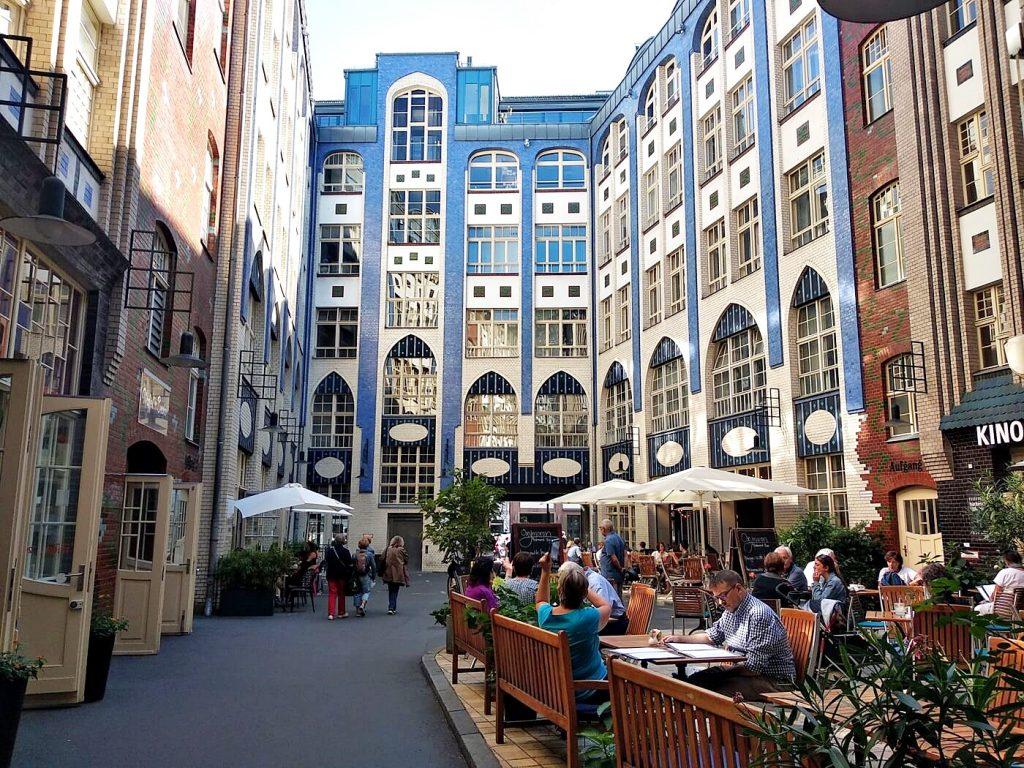 Courtyard in the former East Berlin