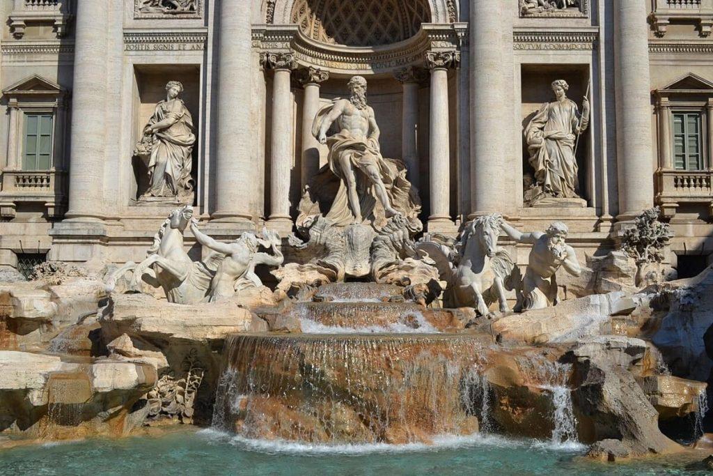 The Fontana di Trevi in Rome