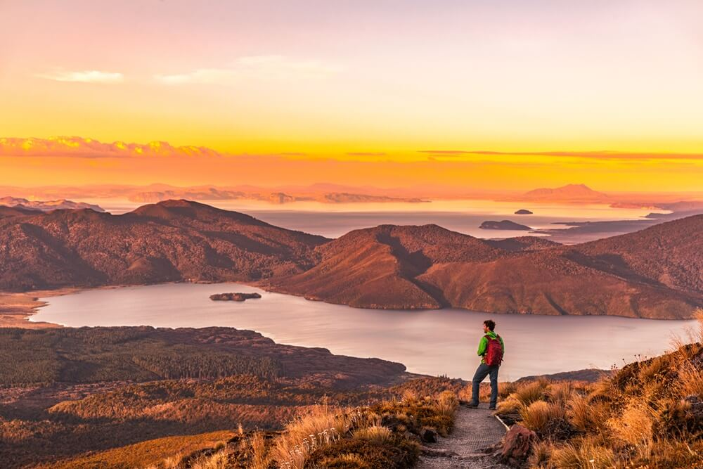 Hiker in New Zealand