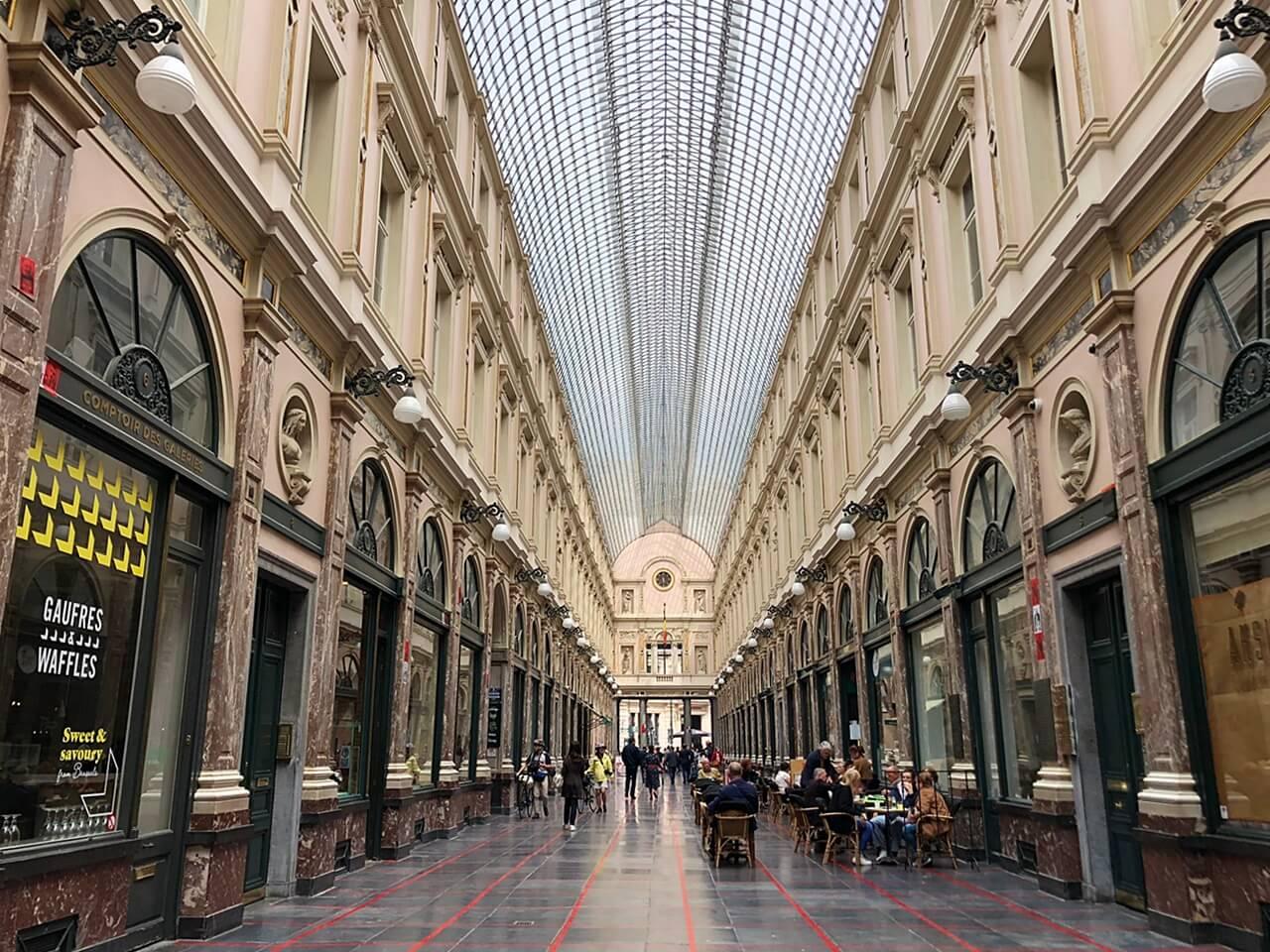 Royal Gallery of Saint Hubert brussels belgium