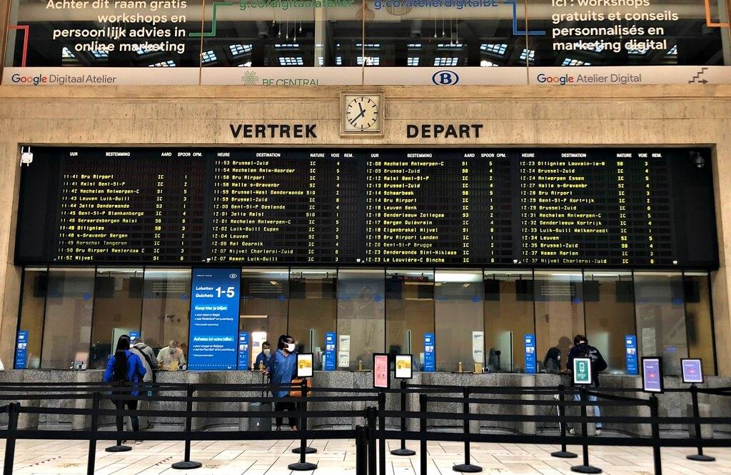 visiting belgium brussels central station