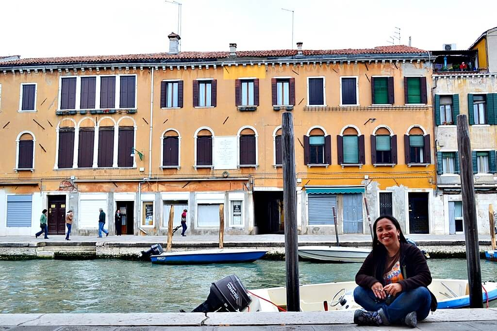 It's fun to just sit and people watch in Venice, Italy.